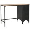 vidaXL szekrényes íróasztal tömör fenyőfából és acélból 100x50x76 cm
