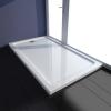 vidaXL Szögletes ABS zuhany alaptálcával 70 x 120 cm fehér