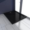 vidaXL Szögletes ABS zuhany alaptálcával 70 x 90 cm fekete