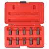 vidaXL tíz darabos csavarkihúzó készlet acél