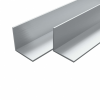 vidaXL vidaXL 4 db alumínium L-profil (szögidom) 50x50x2mm, 2 m