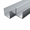 vidaXL vidaXL 4 db alumínium U-alakú csatornaprofil 20x20x2mm, 2 m