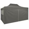 vidaXL vidaXL antracitszürke összecsukható sátor 4 oldalfallal 3 x 4,5 m