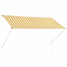 vidaXL vidaXL feltekerhető sárga és fehér napellenző 250 x 150 cm kerti dekoráció