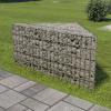 vidaXL vidaXL horganyzott acél gabion virágtartó 75 x 75 x 50 cm