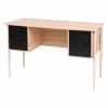 vidaXL vidaXL tölgyfa/fekete színű íróasztal 120 x 55 x 76 cm