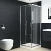 vidaXL vidaXL zuhanykabin biztonsági üveggel 90x80x180 cm