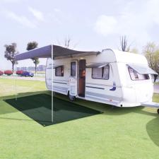 vidaXL zöld HDPE sátorszőnyeg 250 x 500 cm kemping felszerelés