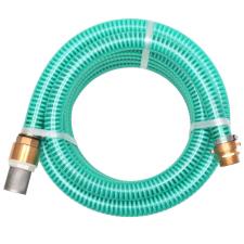 vidaXL zöld szívótömlő sárgaréz csatlakozókkal 7 m 25 mm öntözéstechnikai alkatrész