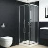 vidaXL zuhanykabin biztonsági üveggel 80x80x185 cm