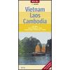 Vietnám - Laosz - Kambodzsa térkép - Nelles