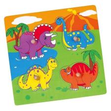Viga Fa fogantyús formaberakó puzzle Viga Dino puzzle, kirakós