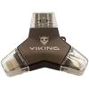 Viking USB Flash Drive 3,0 4v1 128GB fekete