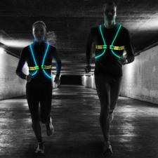 Világítós pánt LED fényekkel éjszakai sportoláshoz elemlámpa