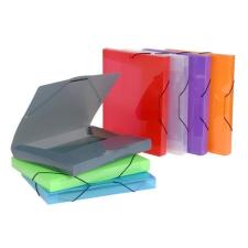 """VIQUEL Gumis mappa, 30 mm, PP, A4, VIQUEL """"Coolbox"""", áttetsző vegyes színek irattartó"""