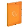 """VIQUEL Gumis mappa, 30 mm, PP, A4, VIQUEL """"Propyglass"""", narancssárga"""