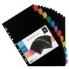 """VIQUEL Regiszter, műanyag, A4 Maxi, 12 részes,  """"Rainbow Class"""" fekete"""
