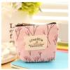 Virágmintás kis pénztárca rózsaszín színben