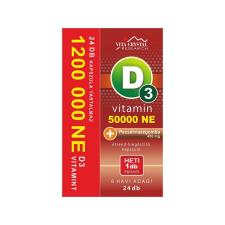 Vita Crystal D3-vitamin 50 000NE heti 1 kapszula 450 mg Pecsétviaszgomba 6 hónapos kiszere2l4é s360 Ft vitamin és táplálékkiegészítő