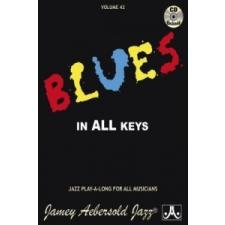 Volume 42: Blues In All Keys (with Free Audio CD): 42 – Jamey Aebersold idegen nyelvű könyv