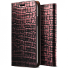 VRS Design (VERUS) iPhone X Genuine Croco Diary oldalra nyíló tok, rózsaszín
