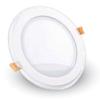 VTAC LED panel üveg kerettel - kör (12 Watt) meleg fehér