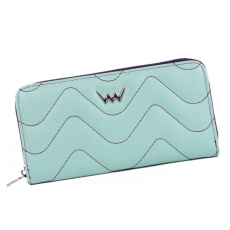 VUCH Heidi hullámtűzéses nagy körzippes pénztárca-menta P2325