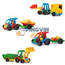 Wader Kid Cars Buggy utánfutóval autópálya és játékautó
