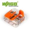 WAGO Wago új karos (csatos) vezeték összekötő, 3 vezeték nyílásos