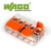 WAGO Wago új karos (csatos) vezeték összekötő, 5 vezeték nyílásos