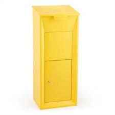 Waldbeck Waldbeck Postbutler Paketbox, postaláda csomagokra, álló postaláda, sárga kerti dekoráció