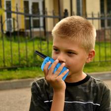 Walkie Talkie gyerekeknek elemlámpával walkie-talkie
