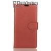 WALLET notesz tok / flip tok - BARNA - asztali tartó funkciós, oldalra nyíló, rejtett mágneses záródás, bankkártyatartó zseb, szilikon belsõ - OnePlus 5T