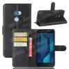 WALLET notesz tok / flip tok - FEKETE - asztali tartó funkciós, oldalra nyíló, rejtett mágneses záródás, bankkártyatartó zseb, szilikon belsõ - HTC One X10