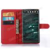 WALLET notesz tok / flip tok - PIROS - asztali tartó funkciós, oldalra nyíló, rejtett mágneses záródás, bankkártyatartó zseb - LG V10