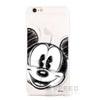 WB hátlapvédő tok Apple iPhone X, Mickey egér skicc