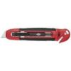 """WEDO Univerzális kés, 18 mm, fóliavágóval, WEDO, \""""Safety\"""" piros/fekete"""