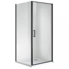 Wellis Quadrum Black 1 nyílóajtós szögletes zuhanykabin Easy clean bevonattal zuhanytálca nélkül kád, zuhanykabin