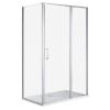Wellis Triton aszimmetrikus nyílóajtós zuhanykabin Easy clean bevonattal zuhanytálca nélkül