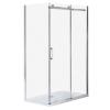 Wellis Vincenzo szögletes aszimmetrikus zuhanykabin Easy clean bevonattal zuhanytálca nélkül