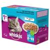 Whiskas alautasakok felnőtt macskáknak kiválasztott halakkal, zselében, 48x100 g
