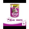 Whiskas konzerv eledel csirkehússal mártásban 18 x 400 g + 6 ajándék!
