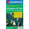WK 075 - Altopiano di Piné - Val di Cembra - Val dei Mocheni turistatérkép - KOMPASS