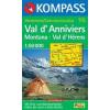 WK 115 - Val d'Anniviers - Montana-Val d'Herens turistatérkép - KOMPASS