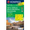 WK 2462 - Siena - Volterra - Massa Maritti turistatérkép - KOMPASS