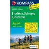WK 32 - Bludenz-Schruns-Klostertal turistatérkép - KOMPASS