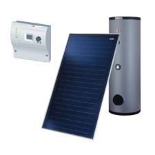 wolf napkollektor rendszer 2db napkollektorral használati melegvíz termelésre már meglévő rendszerhez hűtés, fűtés szerelvény