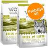 Wolf of Wilderness Próbacsomag: 2 x 1 kg Wolf of Wilderness száraztáp - Green Fields - bárány