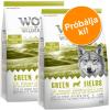Wolf of Wilderness Próbacsomag: 2 x 1 kg Wolf of Wilderness száraztáp - Junior Wild Hills