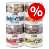 Wolf of Wilderness Sparpaket Wolf of Wilderness - Gefriergetrocknete Premium-Snacks - High Valley - marhamáj (360 g)
